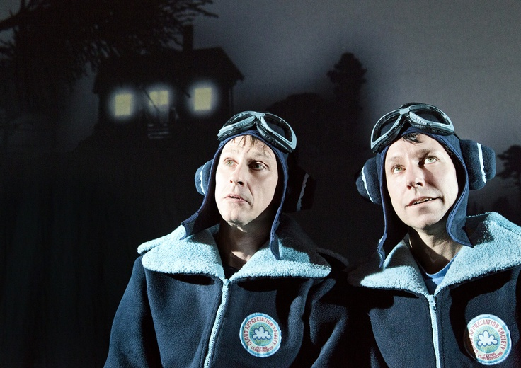 "From ""IF ONLY..."" (2013) - a Teater Hund production. Uffe (Robert Reinhold) and Frede (Bo Carlsson). Photo: Malle Madsen"