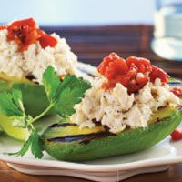 Crab-Stuffed Grilled Avocados is a creative way to include seafood in your menu!