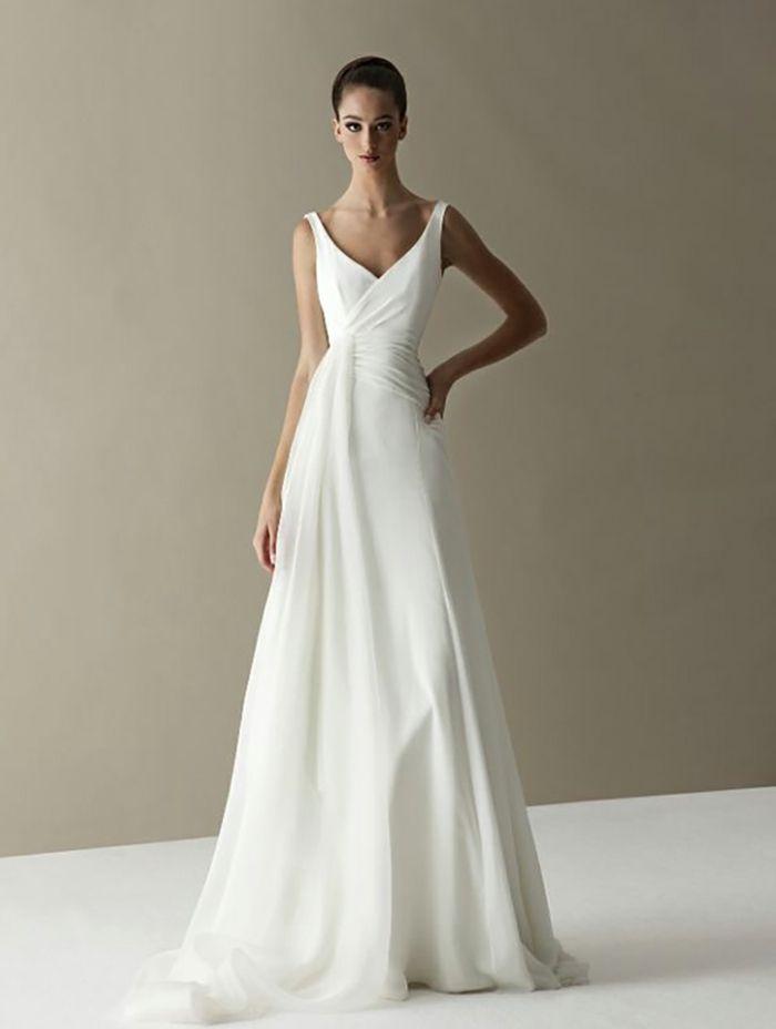 803328ab7 ▷ 1001 + ideas de vestidos de novia sencillos para tu boda
