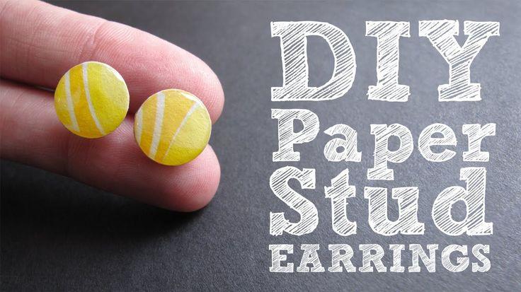 Paper Stud Earrings