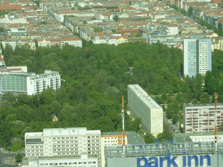 Vom Fernsehturm fotografiert Bilder Stadt/Ort Volkspark Friedrichshain