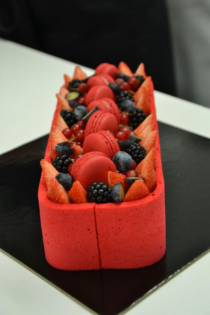 Entremet rouge fruits champagne