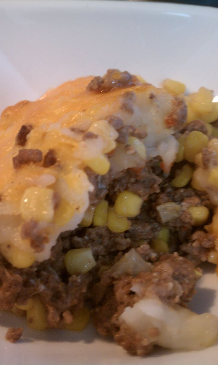 Gluten Free Shepherd's Pie - used gf beef broth instead of Worcestershire and frozen green beans and thinly sliced carrots in lieu of corn - fabulous!