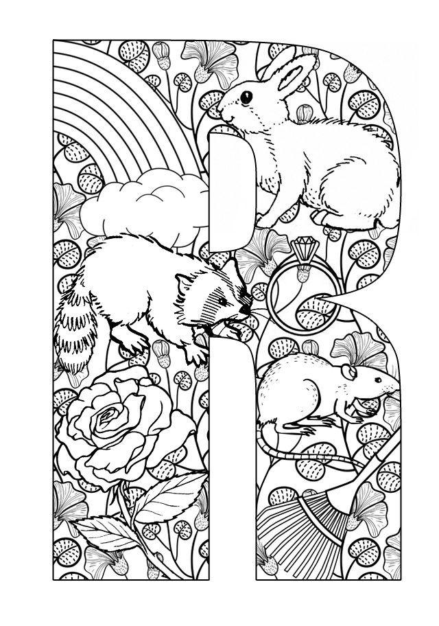 Kleurplaat Printable letters: Letters activities: R