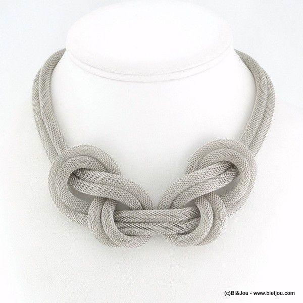 DIY Jewelry: plastron noeud tube résille métal 0115700 - Grossiste Bijoux Fantaisie Chic  https://diypick.com/fashion/diy-jewelry/diy-jewelry-plastron-noeud-tube-resille-metal-0115700-grossiste-bijoux-fantaisie-chic/
