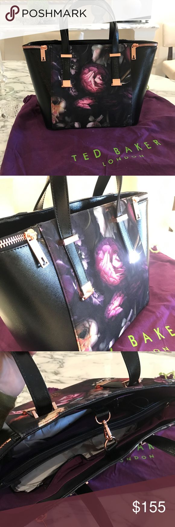 NWT Ted Baker Black/Floral Purse Brand new with tags Ted Baker purse! Never been worn, comes with original stuffing and dust bag. Purchased for $199 (on sale) + tax. Selling for $155 Ted Baker Bags Totes