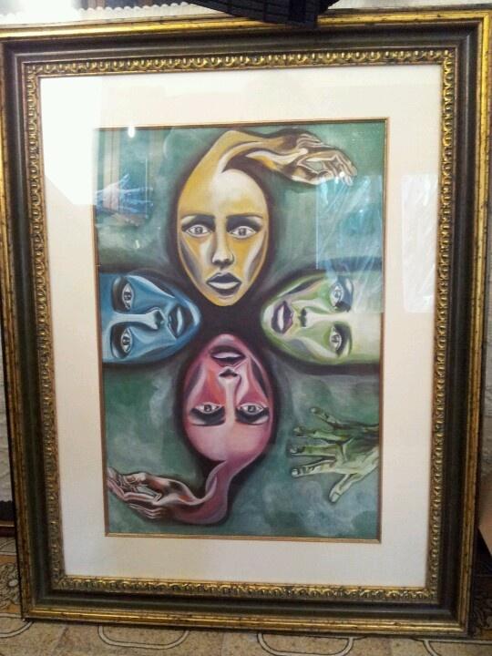 """Dipinto acrilico """"faces"""""""