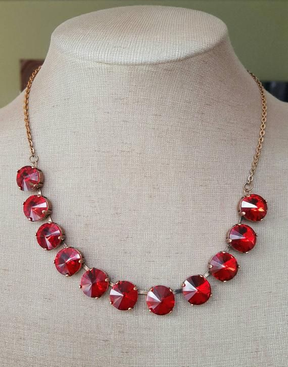 Check Out This Item In My Etsy Shop Https Www Etsy Com Ca Listing 510644518 Garnet Riviere Collet Re Bridal Jewelry Extraordinary Necklace Rhinestone Jewelry