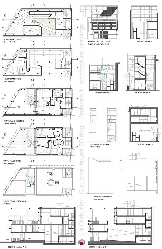 Le Corbusier - Curutchet House 2D dwg drawings