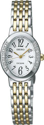 SEIKO EXCELINE solar super clear coating curve sapphire glass Women's watch diamond SWCQ051