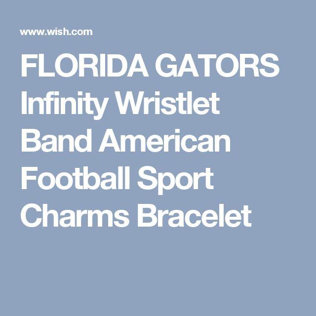 FLORIDA GATORS Infinity Wristlet Band American Football Sport Charms Bracelet