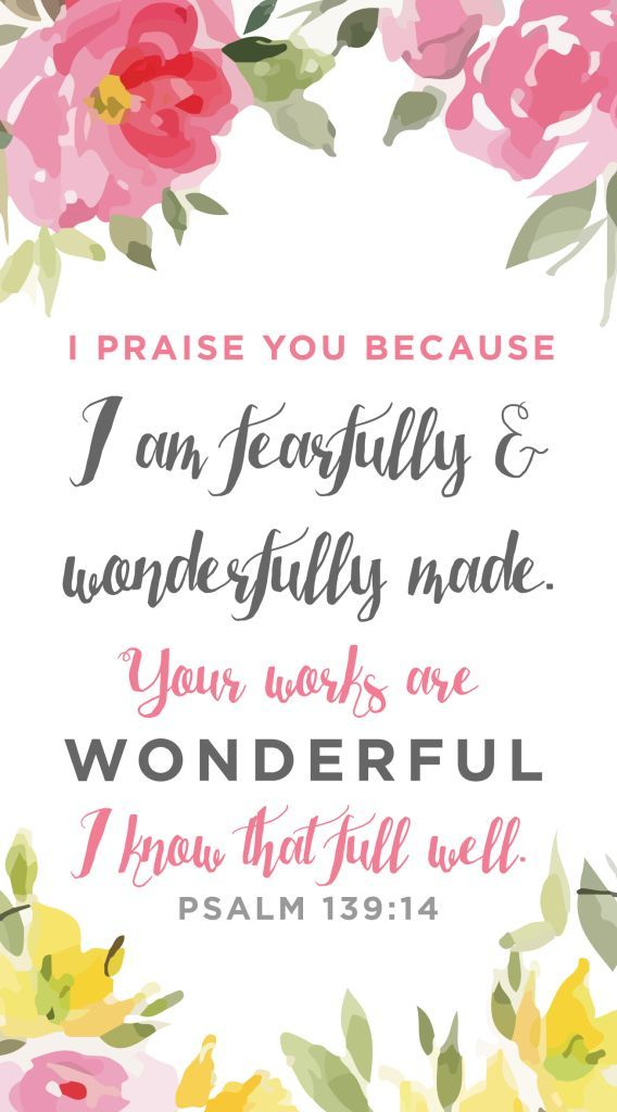 """Psalm 114 """"I am fearfully and wonderfully made"""" Wallpaper Download Free from Life By Elizabeth"""