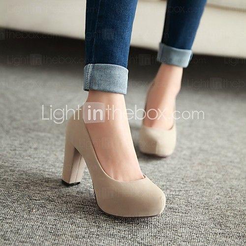 Pantofi pentru femei - Imitație de Piele - Toc Gros - Tocuri - Pantofi cu Toc - Birou & Carieră / Rochie / Casual -Negru / Albastru / 2017 - €24.49
