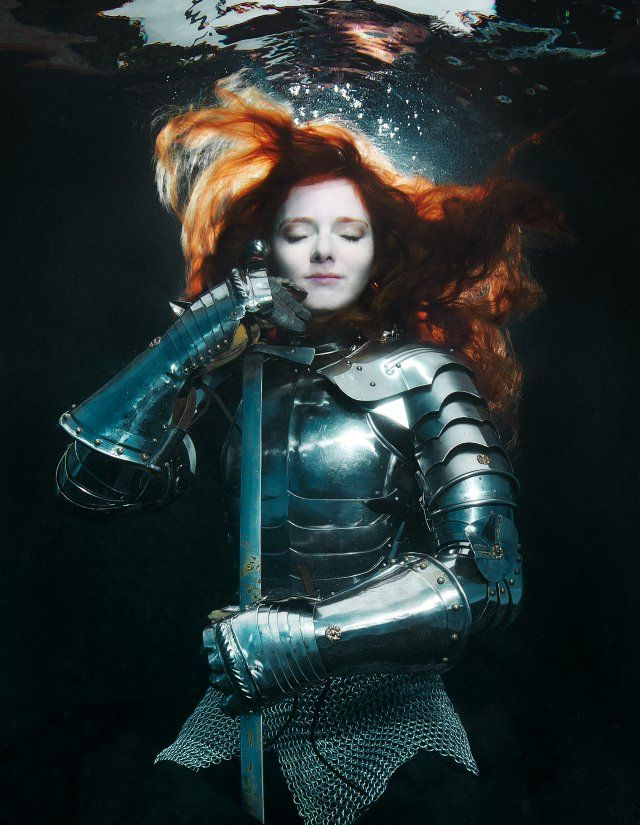 Virginia Hankins by Brenda Stumpf. Rusting that armor up something awful, but undeniably lovely.