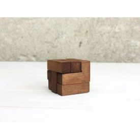 """Wooden Puzzle Box """"Think Cube"""""""