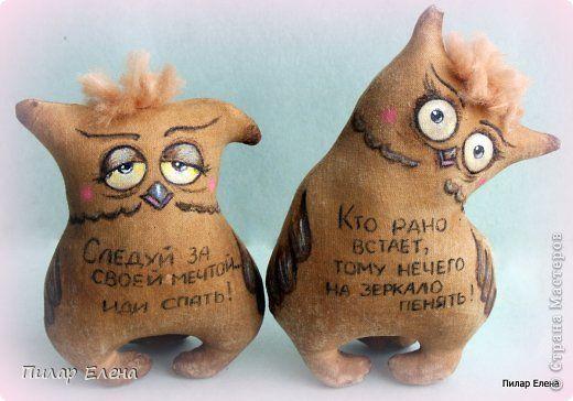 Куклы Шитьё Ароматные совушки и котята Ткань фото 3