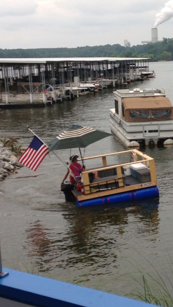 17 Best images about homemade party pontoon on Pinterest | Rod holders, Search and Metal drum