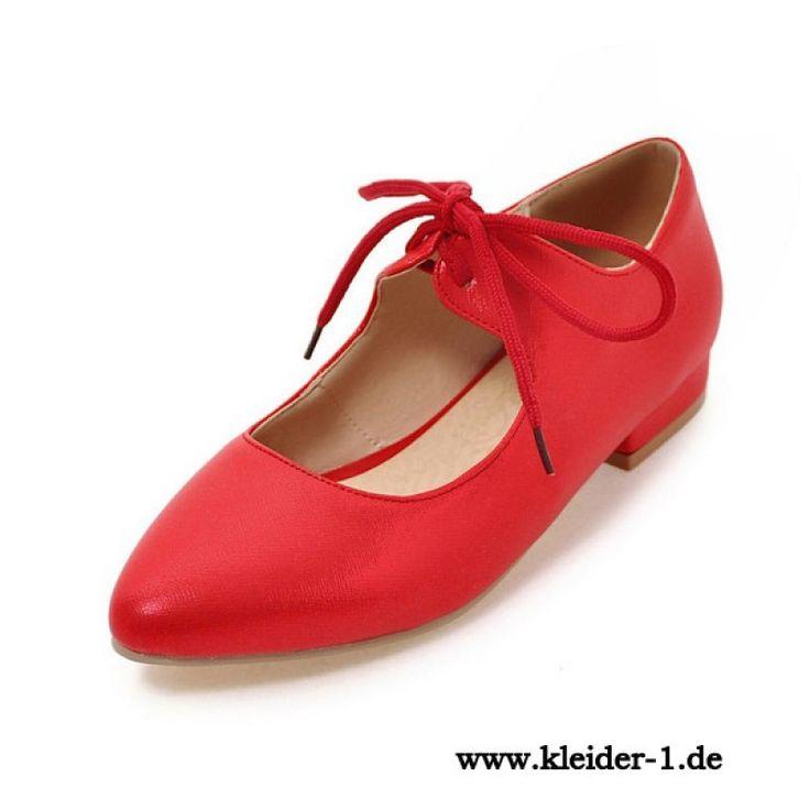 Flache Damenschuhe in Rot