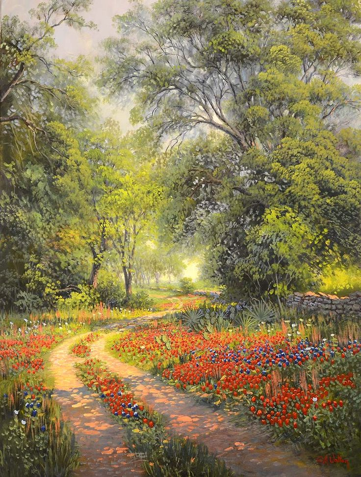 "Kay Walton ""Along The Old Boundary"", 40x30, $4,800.00 Frederickburg Art Gallery www.FbgArtGallery.com"
