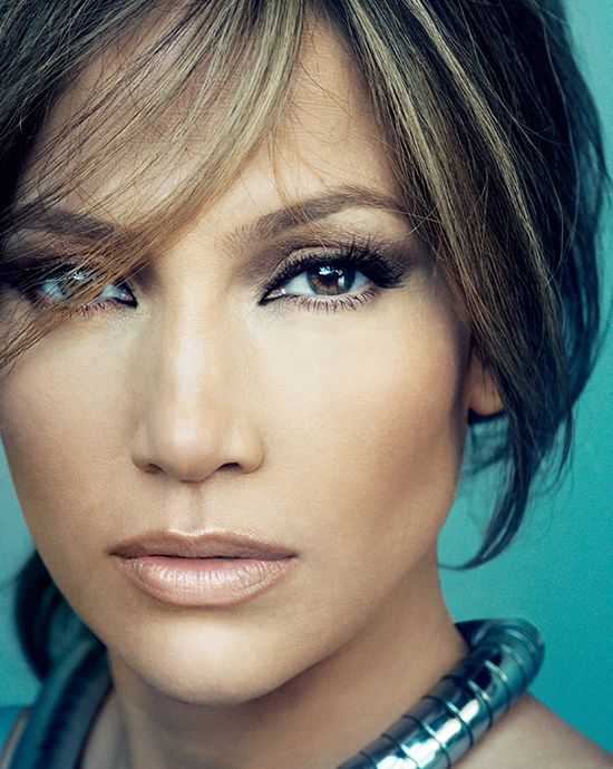 Take a close look at all of the layers of make up.  Brilliant design to fool you eye ... Of corse starting with a great face makes JLo a stunner.