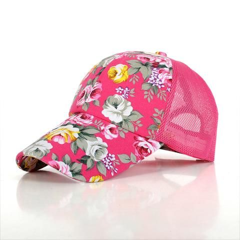 Hot Ladies Baseball Caps Flower Printed