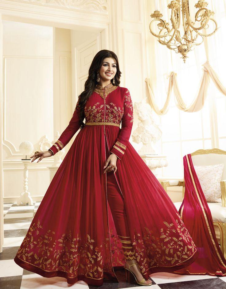 #Red #anarkali #Suit #Bridal #Wear #Bollywood #fashion