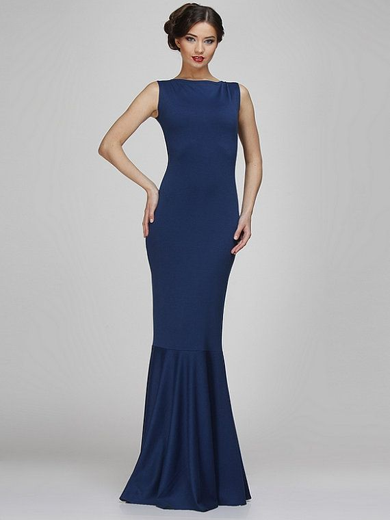 Navy blue maxi dresses simple dresses evening by for Navy blue maxi dress for wedding