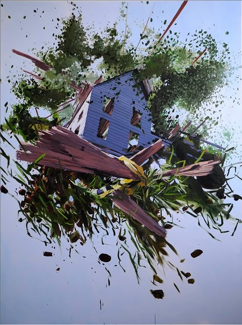Ben Grasso: Exploding Pictures, Artists Ben, Blown Exploding, Art Inspiration, Ben Grasso, Bengrasso Paintings, American Dreams, Exploding Houses, Exploding Structure