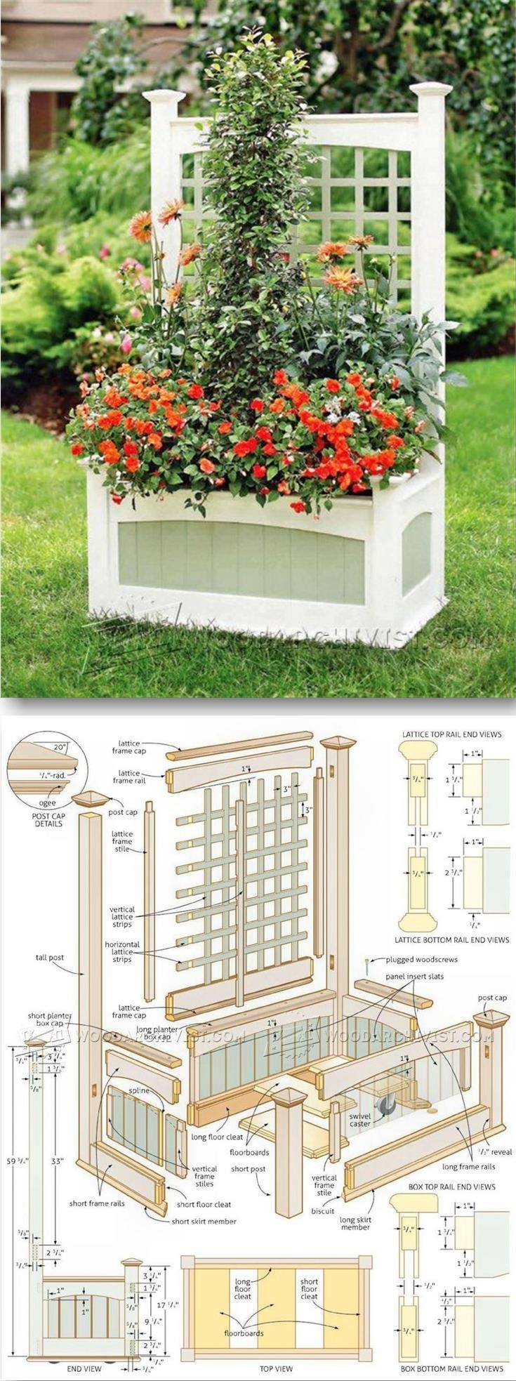 Flower Planter Plans - Outdoor Plans and Projects  | WoodArchivist.com