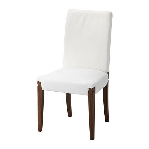 IKEA - HENRIKSDAL, Struttura sedia, marrone, , Ti offre una seduta confortevole grazie allo schienale alto e al sedile con ovatta di poliestere.Le gambe della sedia sono in legno massiccio, un materiale naturale resistente.