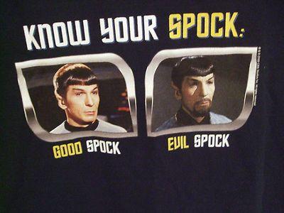 Good Spock- Evil Spock: Idea, Men'S T Shirts, Trek Spock, Bad Spock, Evil Spock, Spock Mens, Star Trek