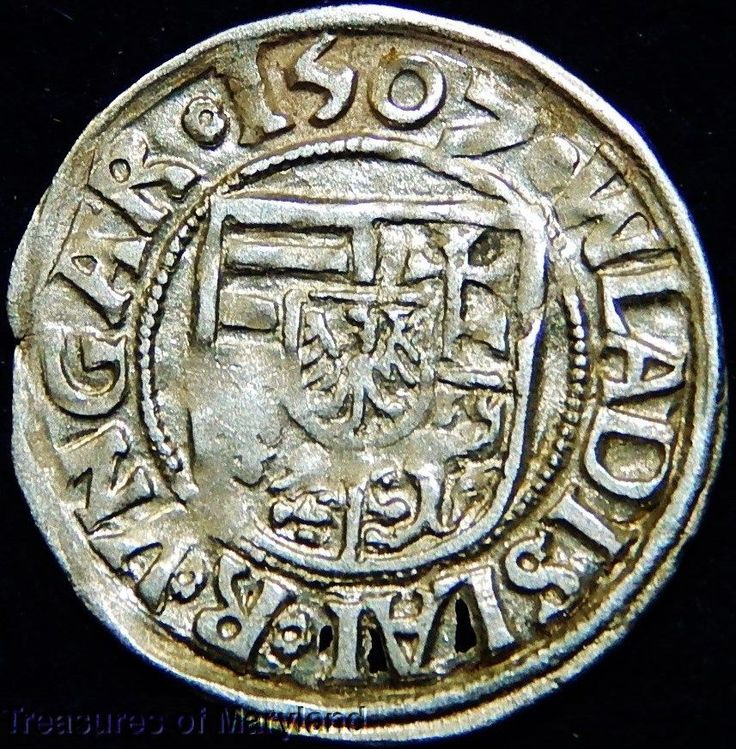 EXCELLENT! 1507 MARY HOLDING BABY JESUS HUNGARIAN DENAR sku #DN7