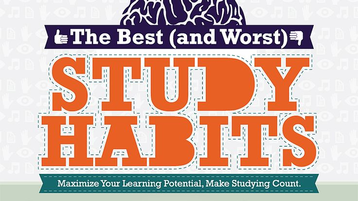 Discover which studying techniques are best for you, and what study habit mistakes to avoid, in a helpful infographic.