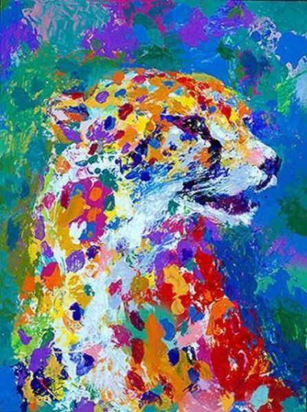 """""""Portrait of the Cheetah 2001"""" by LeRoy Neiman."""