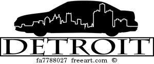 Detroit Car Detroit - Art Print