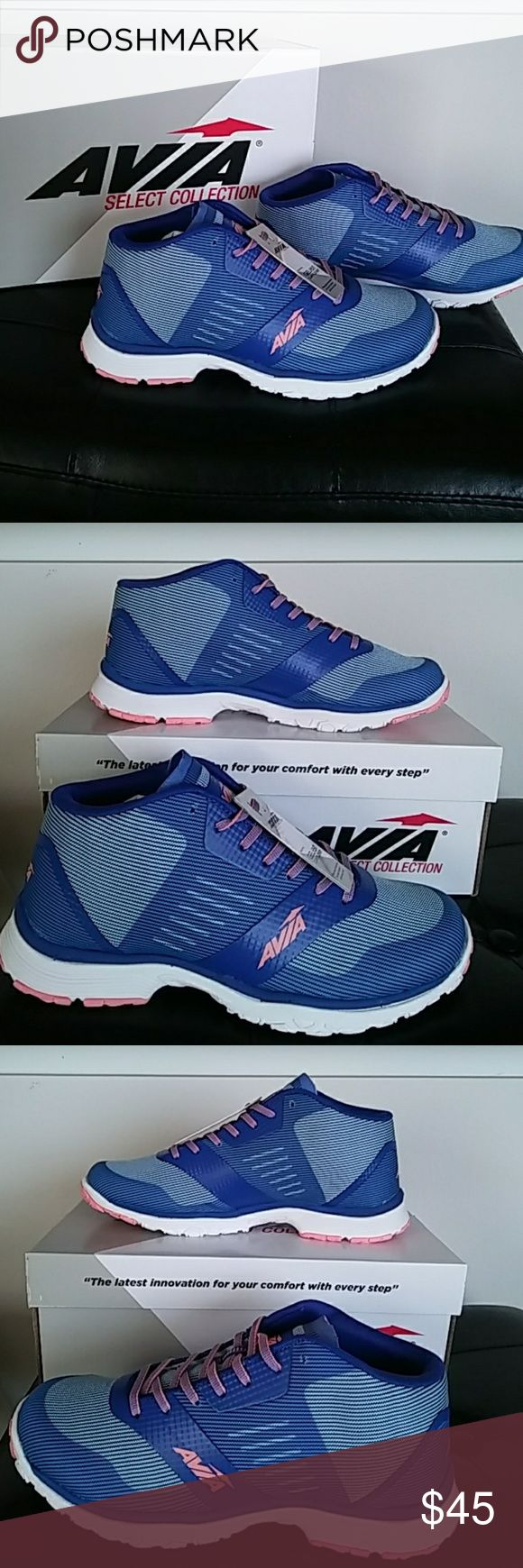"""AVIA ATHLETIC SHOES                           7.5M New in Box. Size 7.5M Avia Athletic shoes designed for running, cross training, walking and basic """"on your feet"""" work outs.  Designed with a special gel foam cantilever technology, these shoes offer the best in comfort, balance, stability and shock absorption. And, they look pretty awesome too! Avia Shoes Athletic Shoes"""