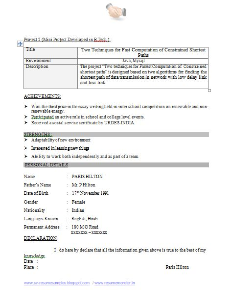 The Best Resume Format (Page 2)