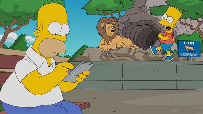 Homer Simpson becomes obsessed with Pokemon Go in online 'exclusive' animation. He completely ignores his wayward children during a trip to the zoo with deadly consequences.  http://l7world.com/2016/07/homer-simpson-plays-pokemon-go.html