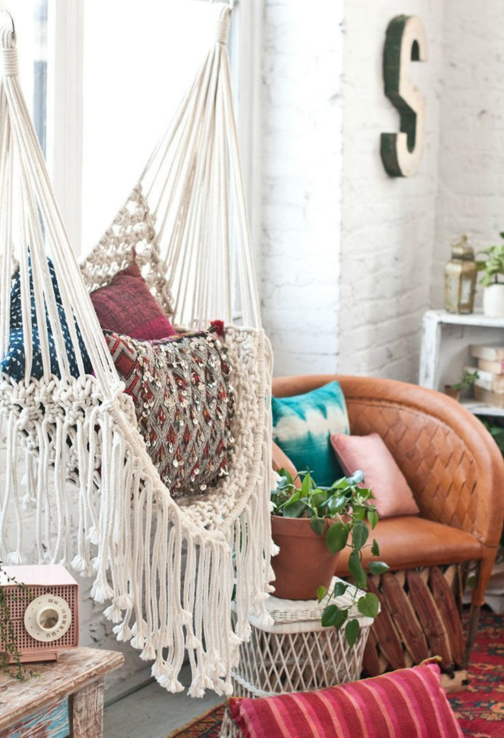 Handmade macrame hammock chair thethrowbackdaze on etsy