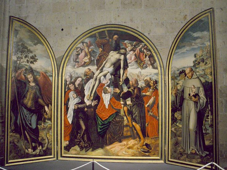 Tríptico del Descendimientoh. 1530Ambrosius BensonCatedralSegovia