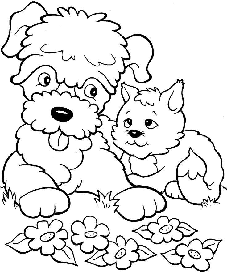 puppies and kitties coloring pages | صور رسومات كرتون للتلوين للأطفال للطباعة لتعليم التلوين ...