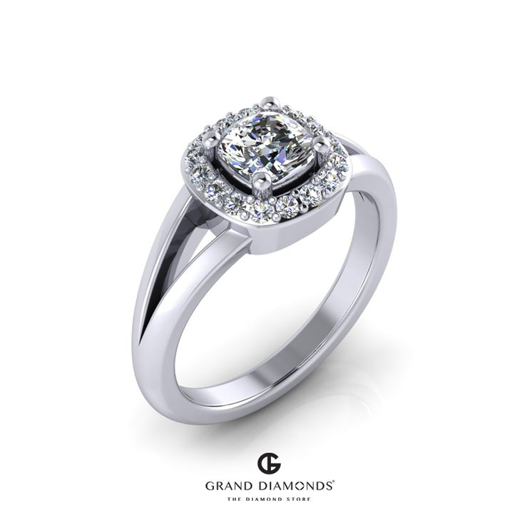 0.66cts Cushion cut Engagement Ring GD590 |