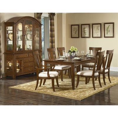 Kathy Ireland Home By Vaughan Pilgrimage 7 Piece Dining Table Set In Rich  Tobacco Part 39