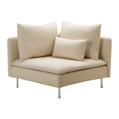 SÖDERHAMN Hoekelement IKEA De diverse onderdelen van de zitmeubelserie kunnen op meerdere manieren aan elkaar worden gekoppeld of los worden...