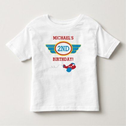 Airplane Birthday T-shirt Toddler Kid - toddler youngster infant child kid gift idea design diy