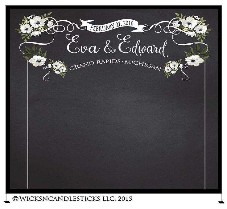 Its All About The Wedding Chalkboard Photo Booth Backdrop For Events And Weddings Wnc