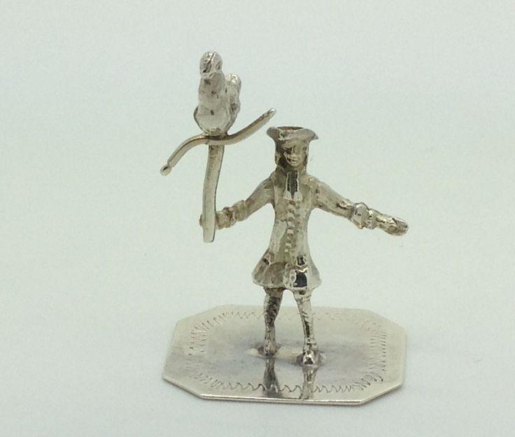 Dollhouse Miniatures Amsterdam: 18th Century Dutch Silver Miniature Of A Falconer Hall
