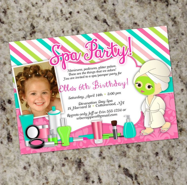 34 best Spa Party Invitation images – Pamper Party Invites
