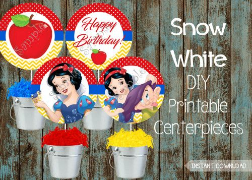 Snow White Birthday party package,  Snow White Party Supplies