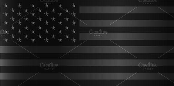 American Flag Black And Silver American Flag Flag American